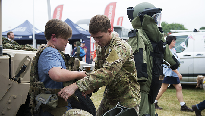RAF Lakenheath EOD team joins largest show in Suffolk