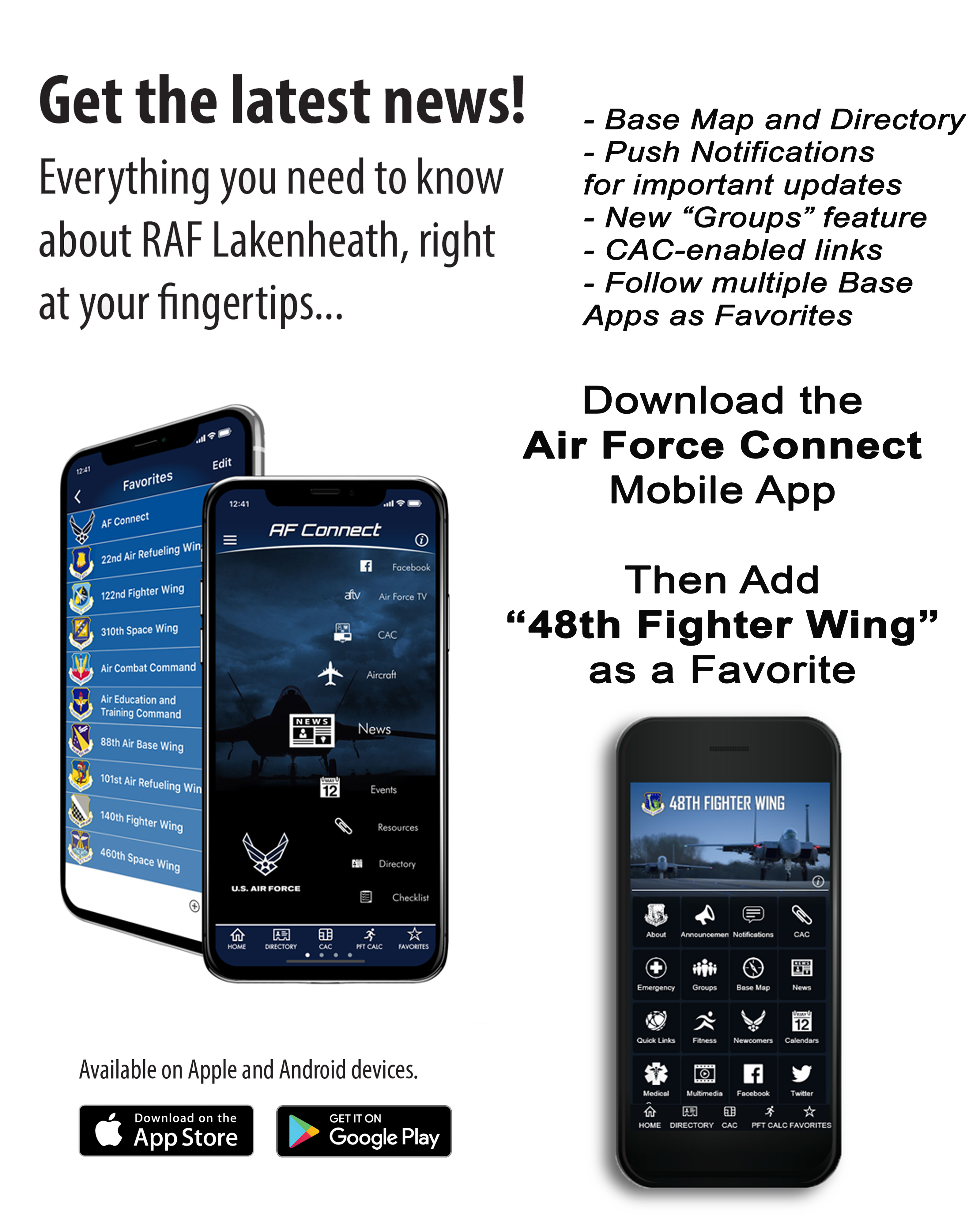 Air Force connect app graphic