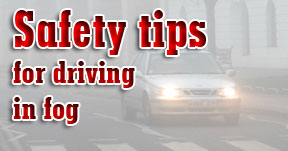 Safety tips for driving in fog image